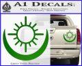 Bright Movie Decal Sticker Shield Of Light Tattoo Symbol D2 Green Vinyl 120x97