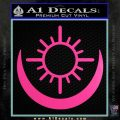 Bright Movie Decal Sticker Shield Of Light Tattoo Symbol D2 Hot Pink Vinyl 120x120