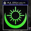 Bright Movie Decal Sticker Shield Of Light Tattoo Symbol D2 Lime Green Vinyl 120x120