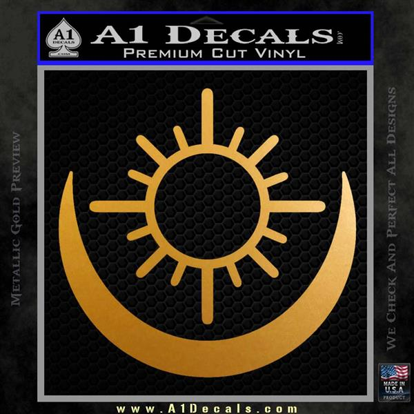 Bright Movie Decal Sticker Shield Of Light Tattoo Symbol D2 Metallic Gold Vinyl