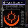 Bright Movie Decal Sticker Shield Of Light Tattoo Symbol D2 Orange Vinyl Emblem 120x120