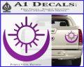 Bright Movie Decal Sticker Shield Of Light Tattoo Symbol D2 Purple Vinyl 120x97