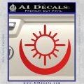 Bright Movie Decal Sticker Shield Of Light Tattoo Symbol D2 Red Vinyl 120x120