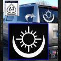 Bright Movie Decal Sticker Shield Of Light Tattoo Symbol D2 White Vinyl Emblem 120x120