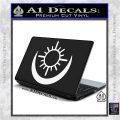 Bright Movie Decal Sticker Shield Of Light Tattoo Symbol D2 White Vinyl Laptop 120x120