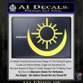 Bright Movie Decal Sticker Shield Of Light Tattoo Symbol D2 Yellow Vinyl 120x120