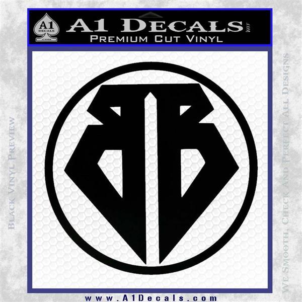 Buckaroo Banzai Decal Sticker CR1 Black Vinyl Logo Emblem