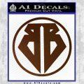 Buckaroo Banzai Decal Sticker CR1 Brown Vinyl 120x120