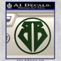 Buckaroo Banzai Decal Sticker CR1 Dark Green Vinyl 120x120