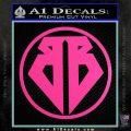 Buckaroo Banzai Decal Sticker CR1 Hot Pink Vinyl 120x120