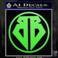 Buckaroo Banzai Decal Sticker CR1 Lime Green Vinyl 120x120