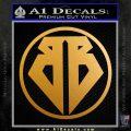 Buckaroo Banzai Decal Sticker CR1 Metallic Gold Vinyl 120x120