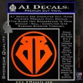 Buckaroo Banzai Decal Sticker CR1 Orange Vinyl Emblem 120x120