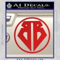 Buckaroo Banzai Decal Sticker CR1 Red Vinyl 120x120