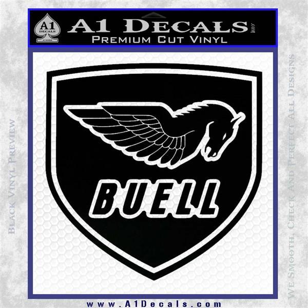 Buel Motorcycles Decal Sticker D 2 Black Vinyl Logo Emblem