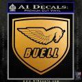 Buel Motorcycles Decal Sticker D 2 Metallic Gold Vinyl 120x120