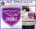 Buel Motorcycles Decal Sticker D 2 Purple Vinyl 120x97