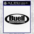 Buel Motorcycles Decal Sticker D 3 Black Vinyl Logo Emblem 120x120