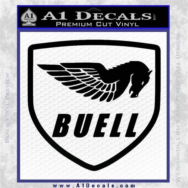 Buel Motorcycles Decal Sticker D Black Vinyl Logo Emblem