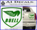Buel Motorcycles Decal Sticker D Green Vinyl 120x97