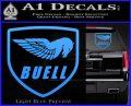 Buel Motorcycles Decal Sticker D Light Blue Vinyl 120x97
