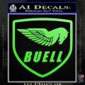 Buel Motorcycles Decal Sticker D Lime Green Vinyl 120x120