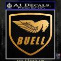 Buel Motorcycles Decal Sticker D Metallic Gold Vinyl 120x120