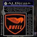 Buel Motorcycles Decal Sticker D Orange Vinyl Emblem 120x120