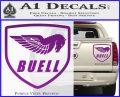 Buel Motorcycles Decal Sticker D Purple Vinyl 120x97