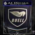 Buel Motorcycles Decal Sticker D Silver Vinyl 120x120
