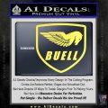 Buel Motorcycles Decal Sticker D Yellow Vinyl 120x120