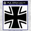 Bundeswehr Cross Iron Cross Decal Sticker Black Vinyl Logo Emblem 120x120