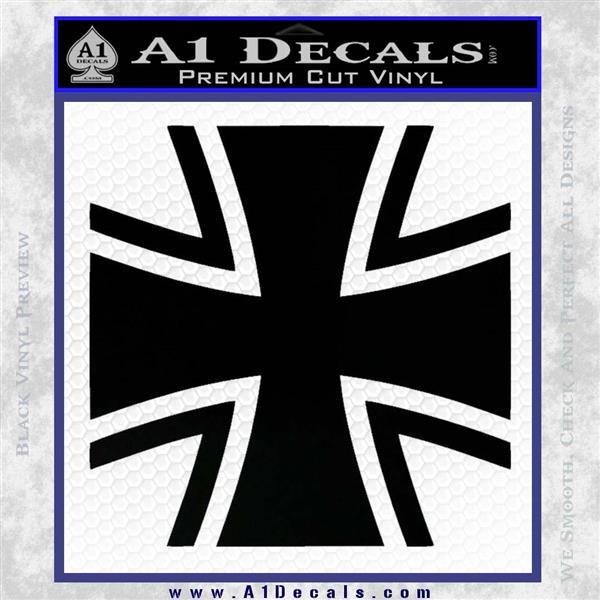Bundeswehr Cross Iron Cross Decal Sticker Black Vinyl Logo Emblem