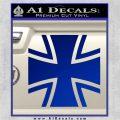 Bundeswehr Cross Iron Cross Decal Sticker Blue Vinyl 120x120