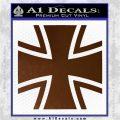 Bundeswehr Cross Iron Cross Decal Sticker Brown Vinyl 120x120