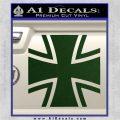 Bundeswehr Cross Iron Cross Decal Sticker Dark Green Vinyl 120x120