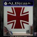 Bundeswehr Cross Iron Cross Decal Sticker Dark Red Vinyl 120x120