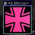 Bundeswehr Cross Iron Cross Decal Sticker Hot Pink Vinyl 120x120