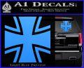 Bundeswehr Cross Iron Cross Decal Sticker Light Blue Vinyl 120x97
