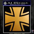Bundeswehr Cross Iron Cross Decal Sticker Metallic Gold Vinyl 120x120