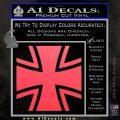 Bundeswehr Cross Iron Cross Decal Sticker Pink Vinyl Emblem 120x120