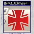 Bundeswehr Cross Iron Cross Decal Sticker Red Vinyl 120x120