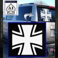 Bundeswehr Cross Iron Cross Decal Sticker White Vinyl Emblem 120x120