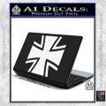 Bundeswehr Cross Iron Cross Decal Sticker White Vinyl Laptop 120x120