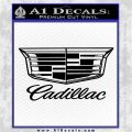 Cadillac Decal Sticker New 2017 Stacked Black Vinyl Logo Emblem 120x120