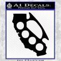 Cali Knucks Decal Sticker California Brass Knuckles Black Vinyl Logo Emblem 120x120