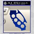 Cali Knucks Decal Sticker California Brass Knuckles Blue Vinyl 120x120