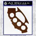 Cali Knucks Decal Sticker California Brass Knuckles Brown Vinyl 120x120