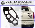 Cali Knucks Decal Sticker California Brass Knuckles Carbon Fiber Black 120x97