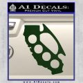 Cali Knucks Decal Sticker California Brass Knuckles Dark Green Vinyl 120x120